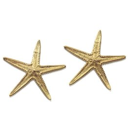 Starfish Earrings - 14K Gold (Post)