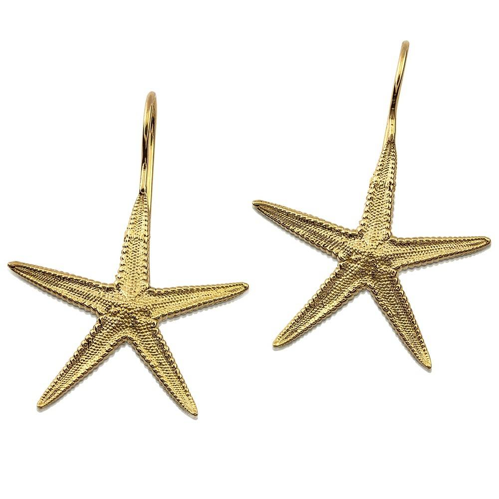 Starfish Earrings - 14K Gold (Wire)