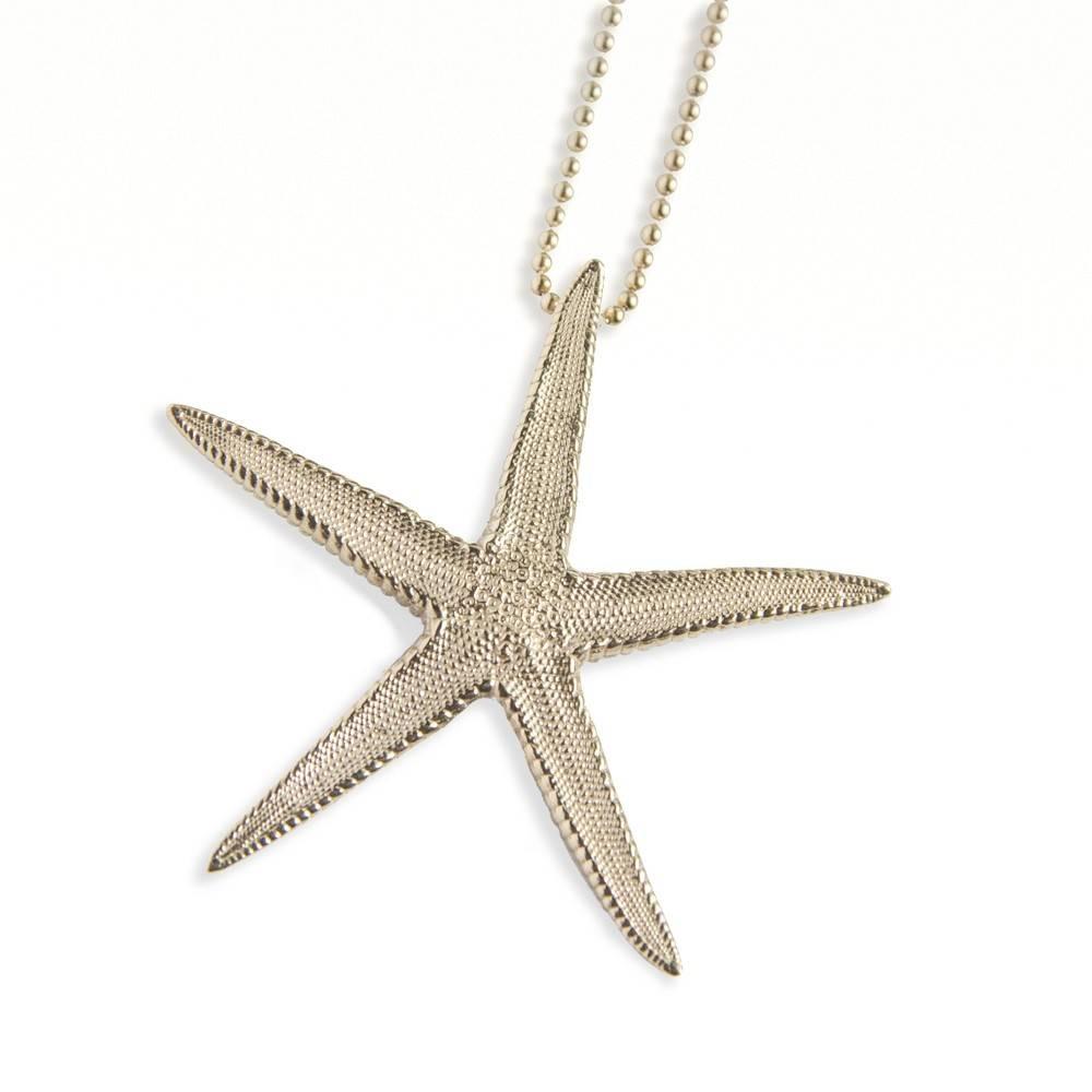 Starfish Pendant - 14K Gold (Large)