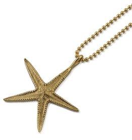 Starfish Pendant - 14K Gold (Small)
