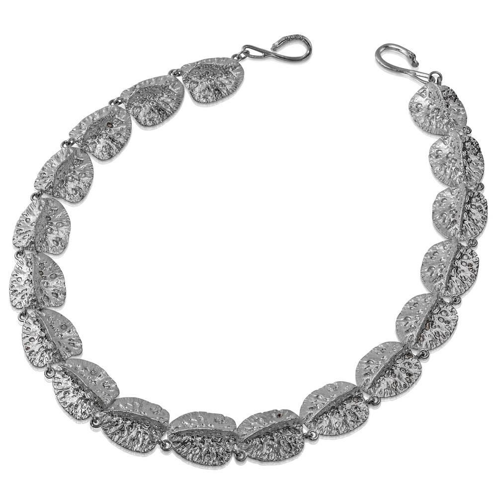Alligator Scute Necklace - Sterling Silver