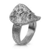 Alligator Scute Ring - Sterling Silver (Small)