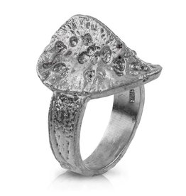 Alligator Scute Ring - Sterling Silver - Ladies