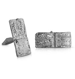 Armadillo Shell Cufflinks - Sterling Silver