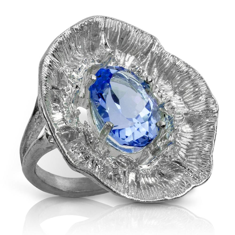 Barnacle Ring - Sterling Silver (London Blue Topaz)