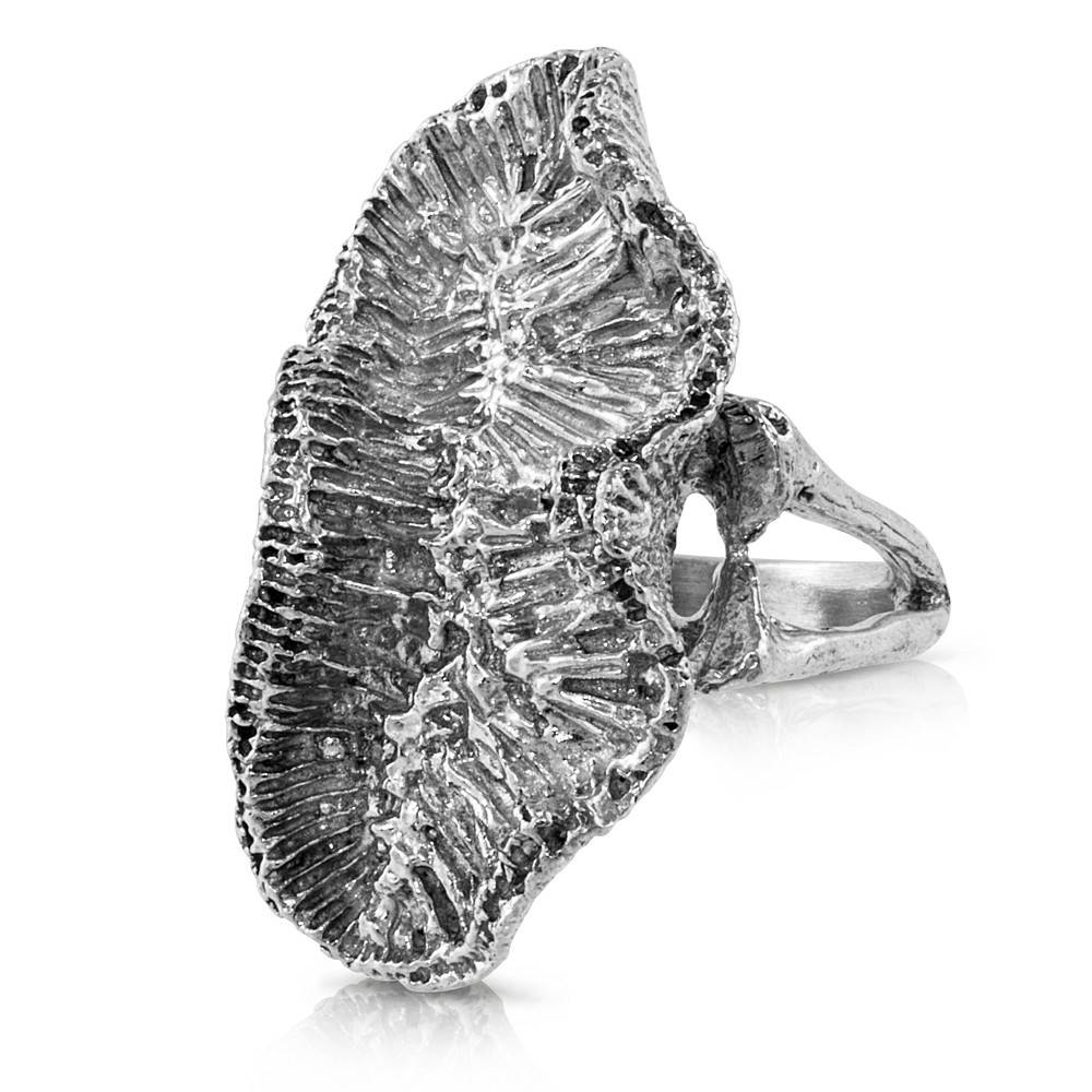 Coral Ring - Sterling Silver