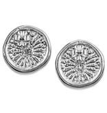 Dolphin Disc Earrings - Sterling Silver