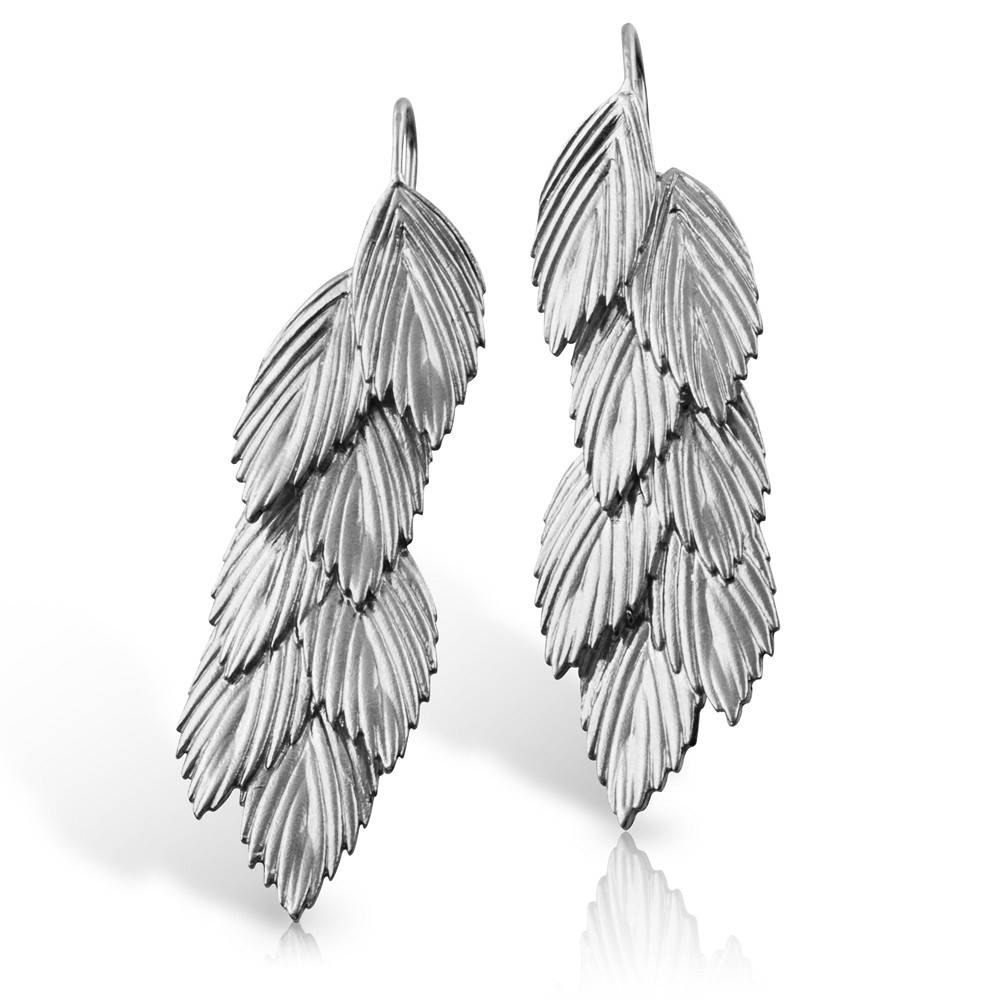 Sea Oats Earrings - Sterling Silver