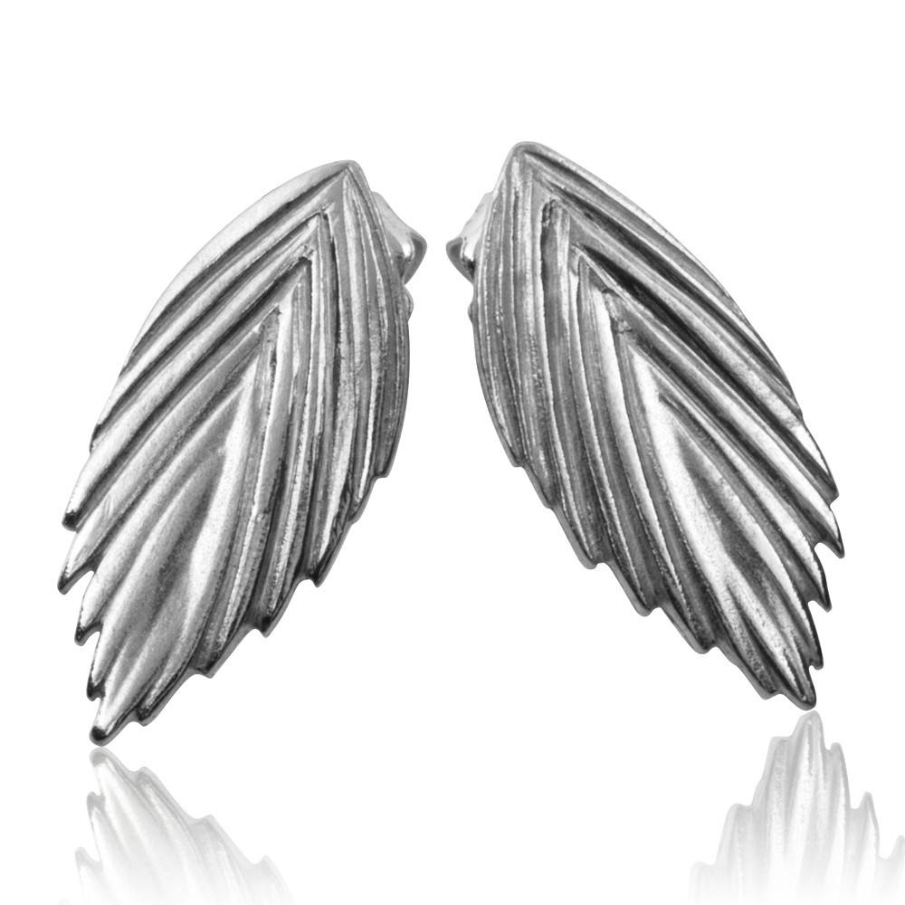 Sea Oats Earrings - Sterling Silver (Small)