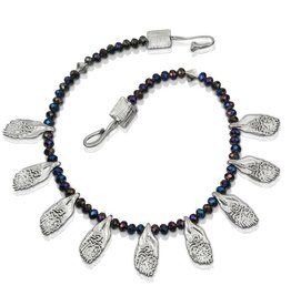 Garfish Scale Necklace - Sterling Silver