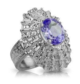 Limpet Shell Ring - Sterling Silver (Alexandrite Spinel)