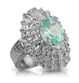 Limpet Shell Ring - Sterling Silver (Emerald Spinel)