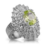 Limpet Shell Ring - Sterling Silver (Lemon Quartz)