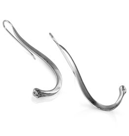 Raccoon Pecker Earrings - Sterling Silver