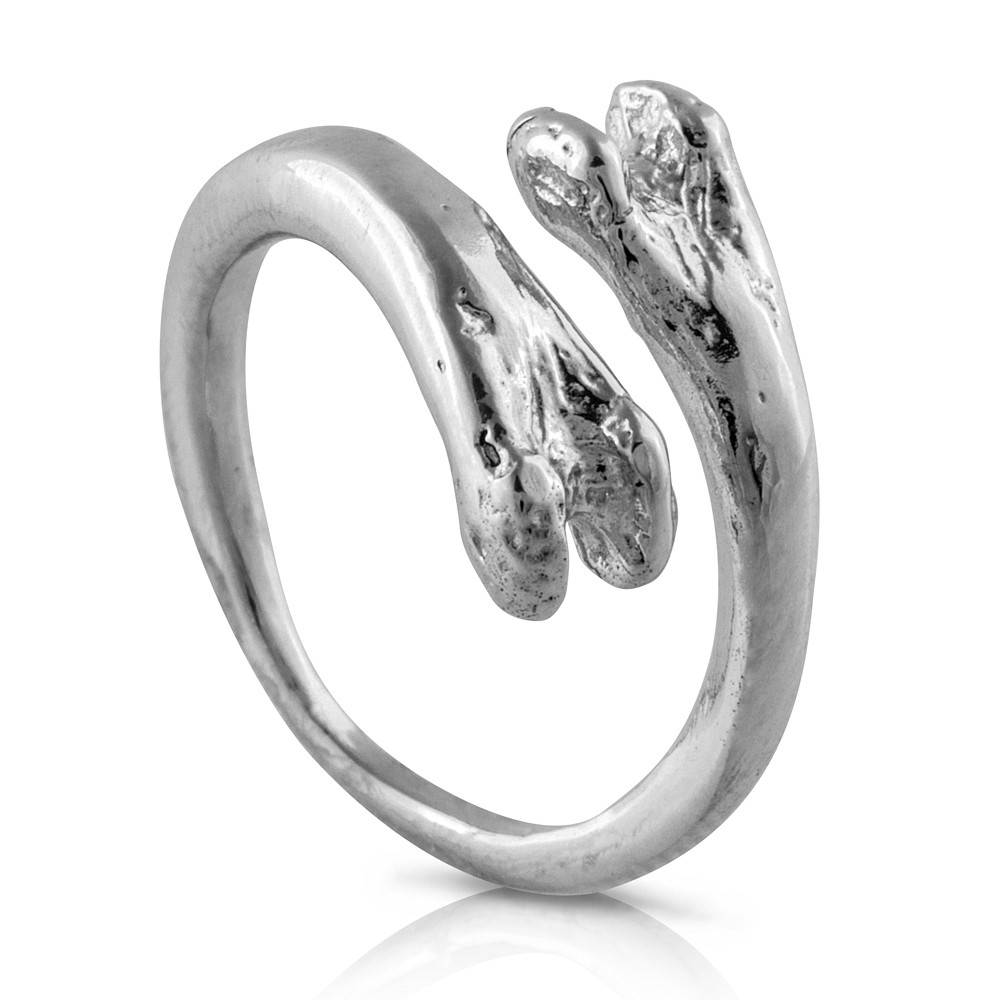 Raccoon Pecker Ring - Sterling Silver