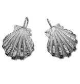 Jewel Craft Inc. Scallop Shell Earrings - Sterling Silver (Wire)