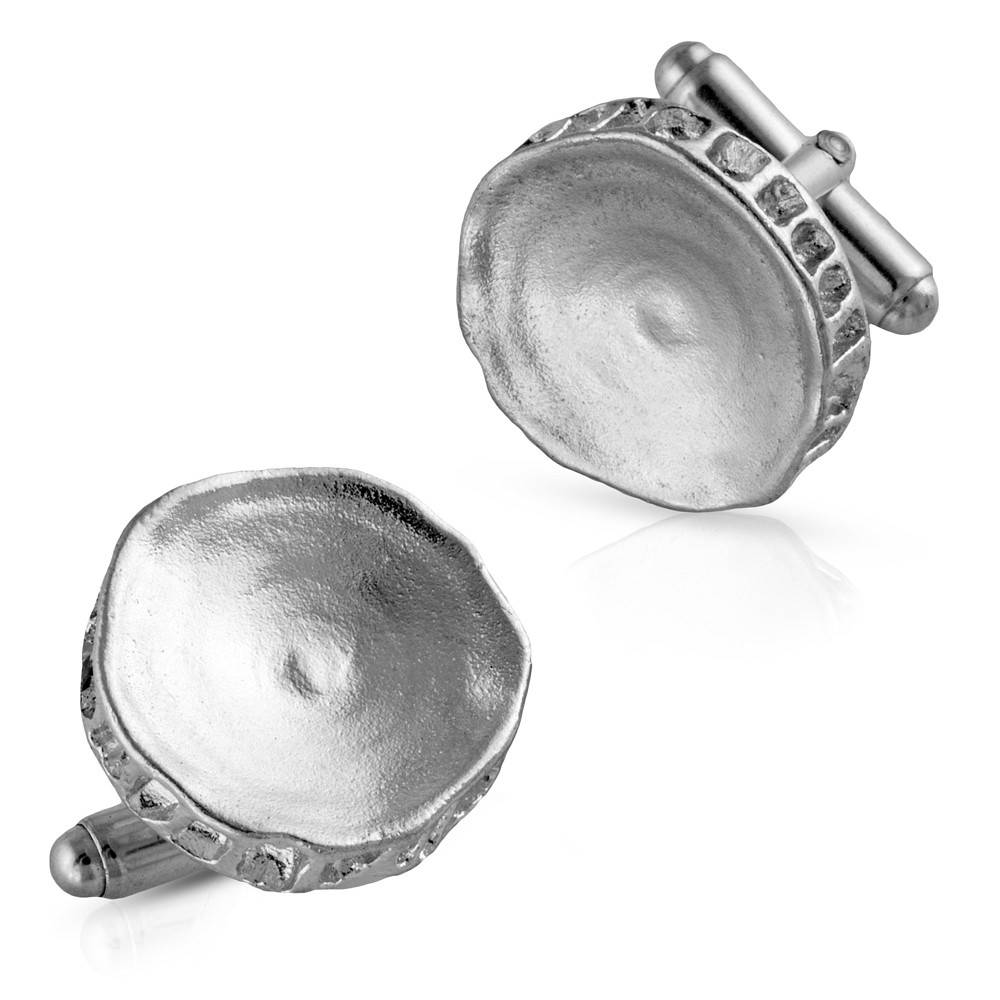 Shark Vertebrae Cufflinks - Sterling Silver