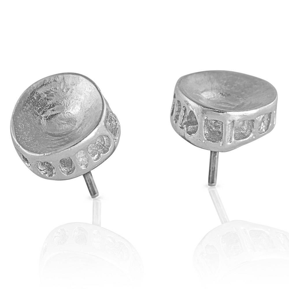 Shark Vertebrae Earrings - Sterling Silver (Small)