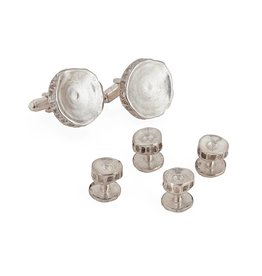 Shark Vertebrae Shirt Studs - Sterling Silver (Set of 4)