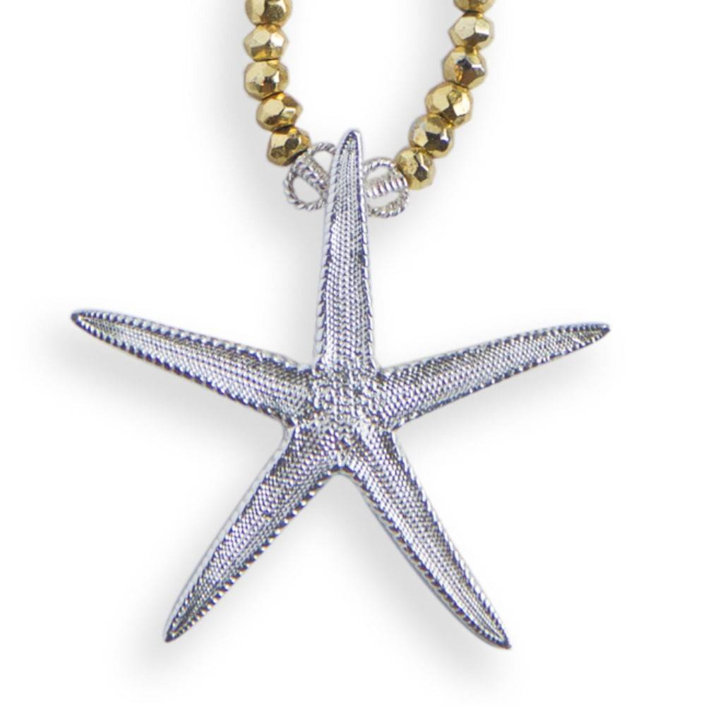 Starfish Pendant Necklace - Sterling Silver (Large) - Opera