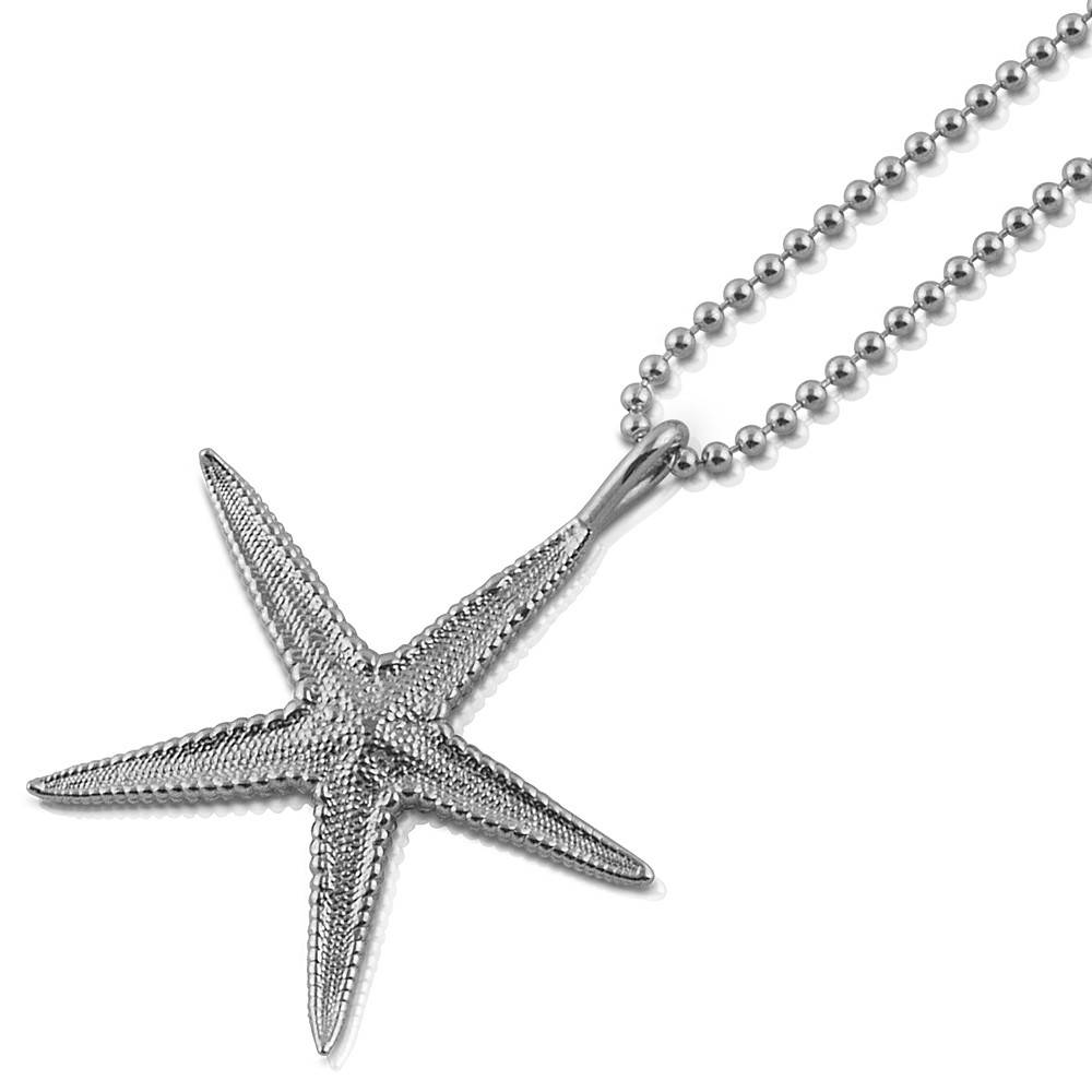 Starfish Pendant - Sterling Silver (Small)