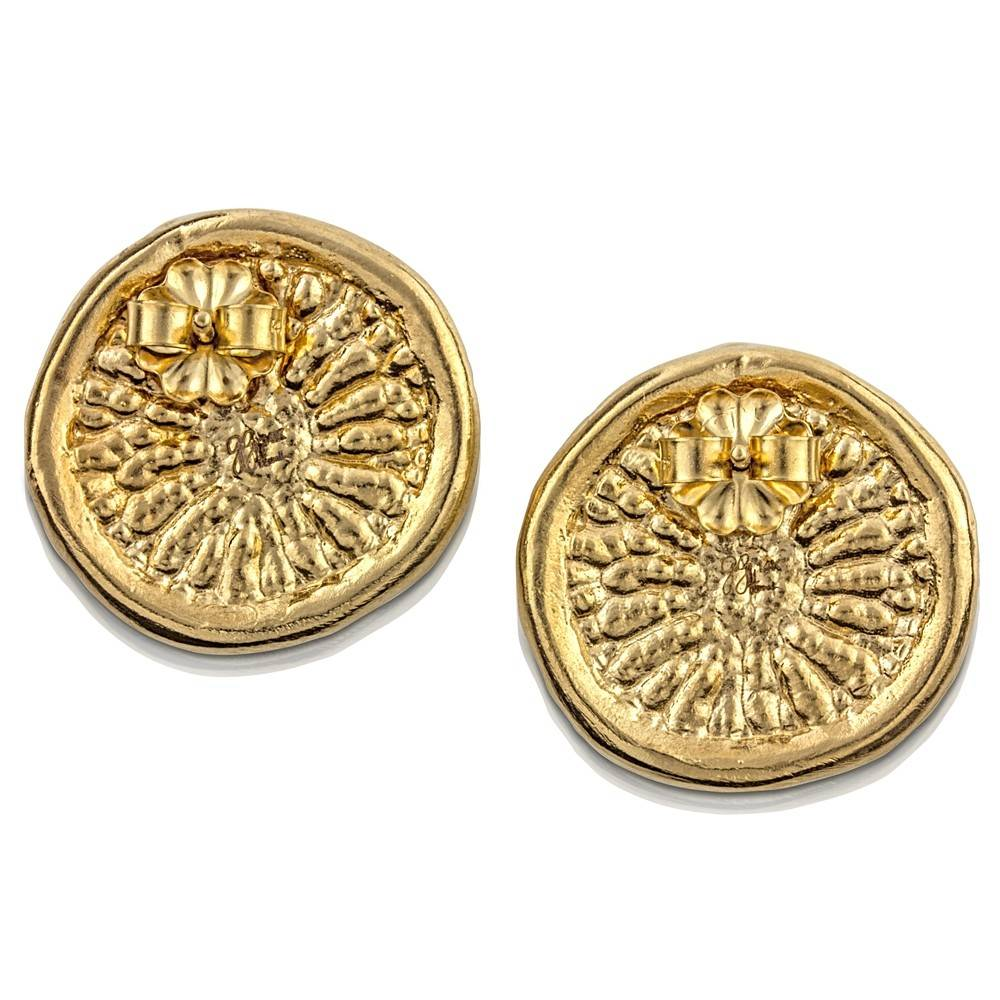 Dolphin Disc Earrings - Vermeil
