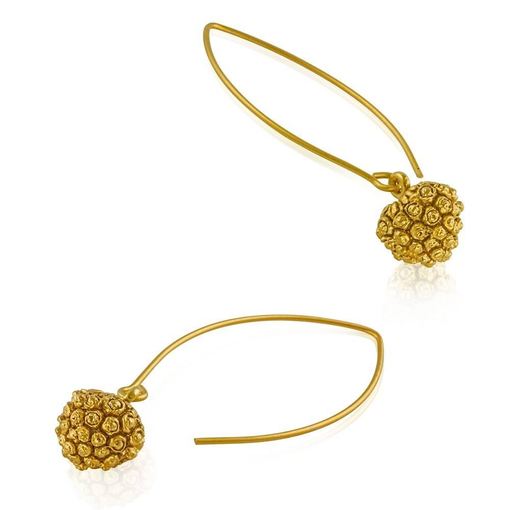 Jewel Craft Inc. Kousa Dogwood Earrings - Vermeil (Wire)