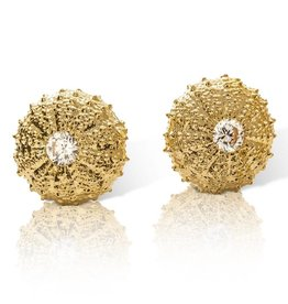 Sea Urchin Earrings - Vermeil - Medium (CZ)