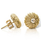 Sea Urchin Earrings - Vermeil - Medium (CZ)