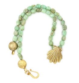 Scallop Shell Pendant Necklace - Vermeil (Large)