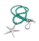 Starfish Pendant Necklace - Sterling Silver (Small)