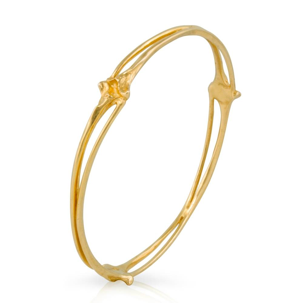 Rattlesnake Rib Bangle - Vermeil