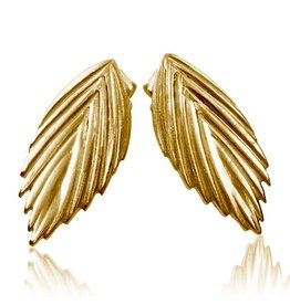 Sea Oats Earrings - Vermeil (Single)