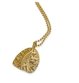 Alligator Scute Pendant - Vermeil (Large)