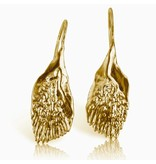 Garfish Scale Earrings - Vermeil