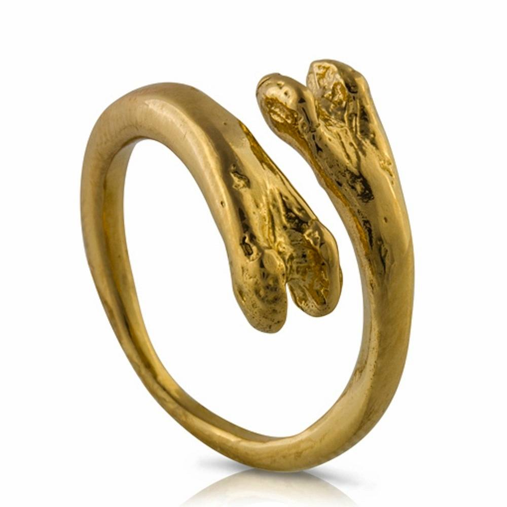 Raccoon Pecker Ring - Vermeil