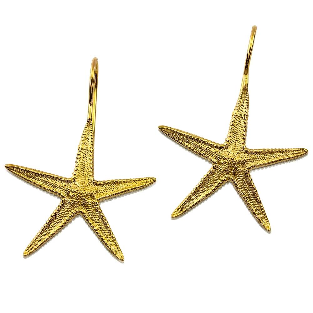 Starfish Earrings - Vermeil (Wire)