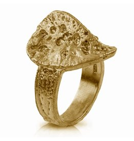 Alligator Scute Ring - Vermeil (Small)