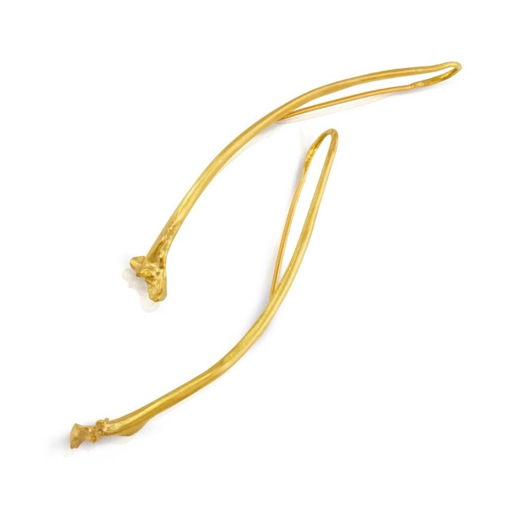 Rattlesnake Rib Earrings - Vermeil-LONG