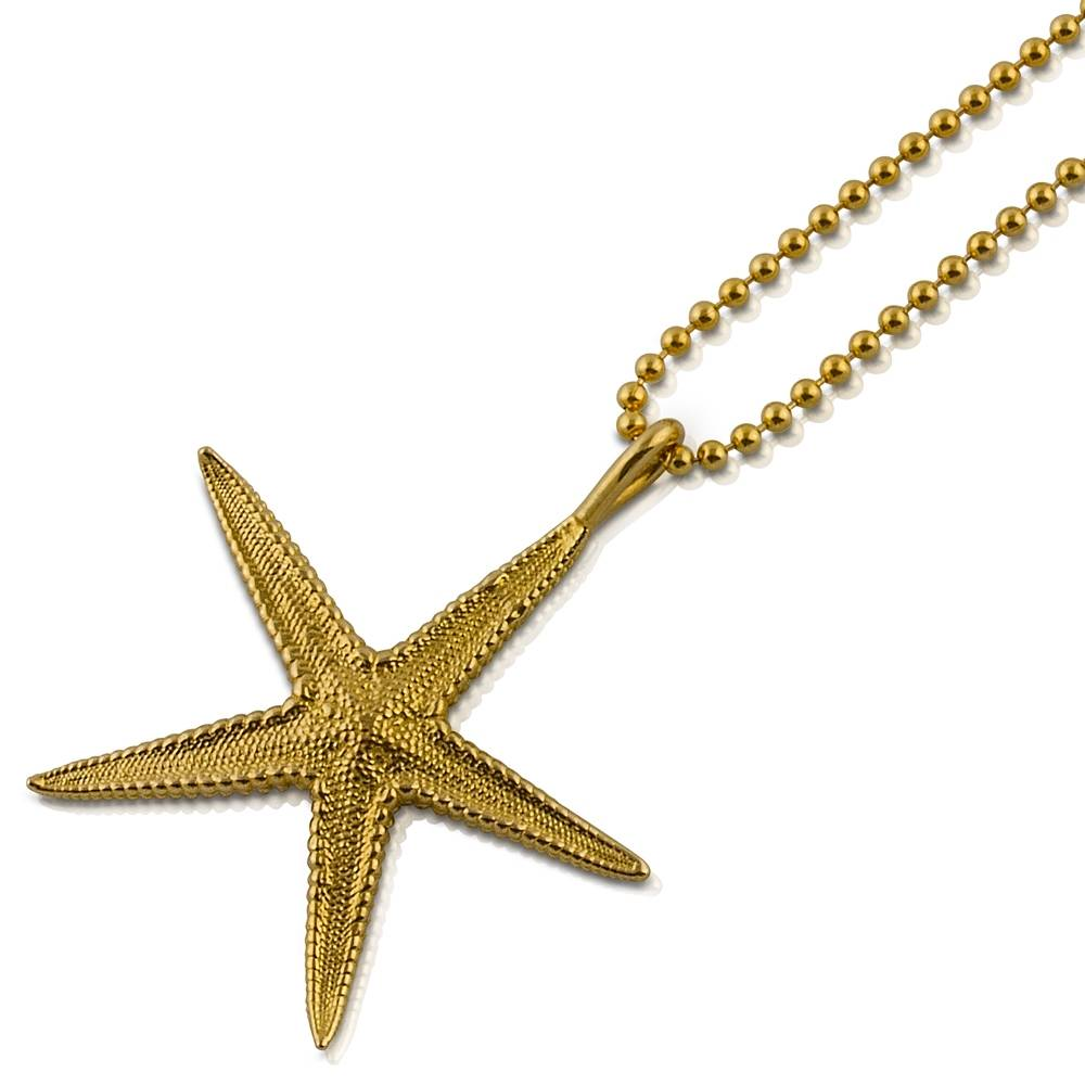 Starfish Pendant - Vermeil (Small)