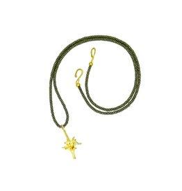 Rattlesnake Vertebrae Pendant Necklace - Vermeil (XL) - Opera