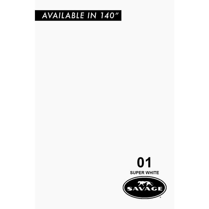 "Savage 86"" Seamless Paper Super White"