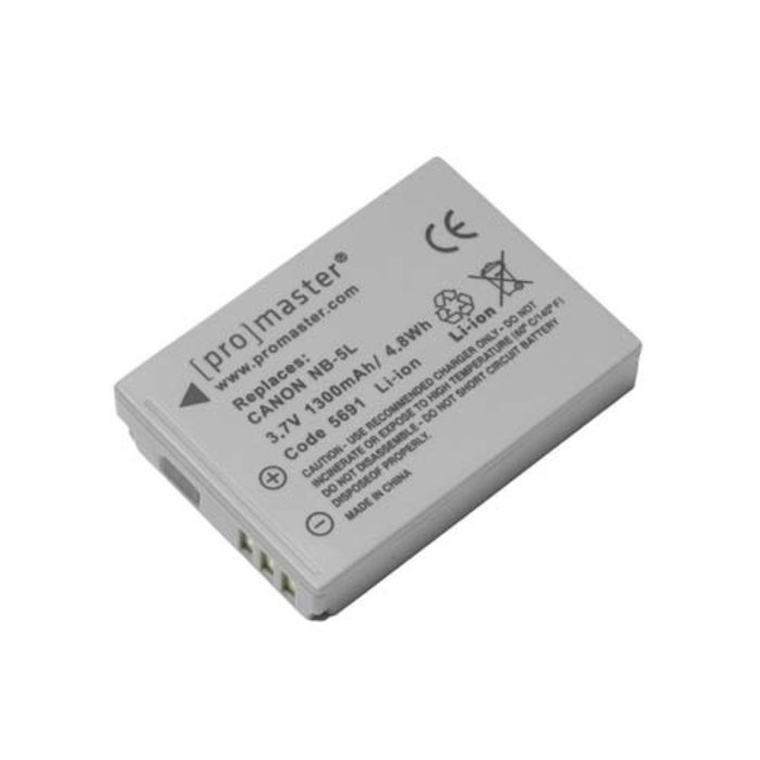 ProMaster NB-5L Battery - Canon Powershot SX230 HS, S110, S100,