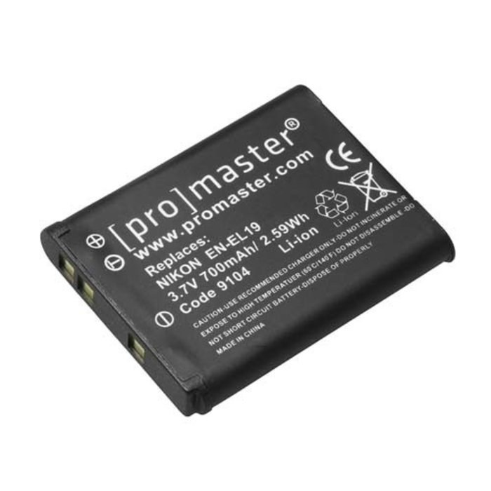 ProMaster EN-EL19 - Nikon Coolpix S7000, S6800, S6500, S6400, A300, W100
