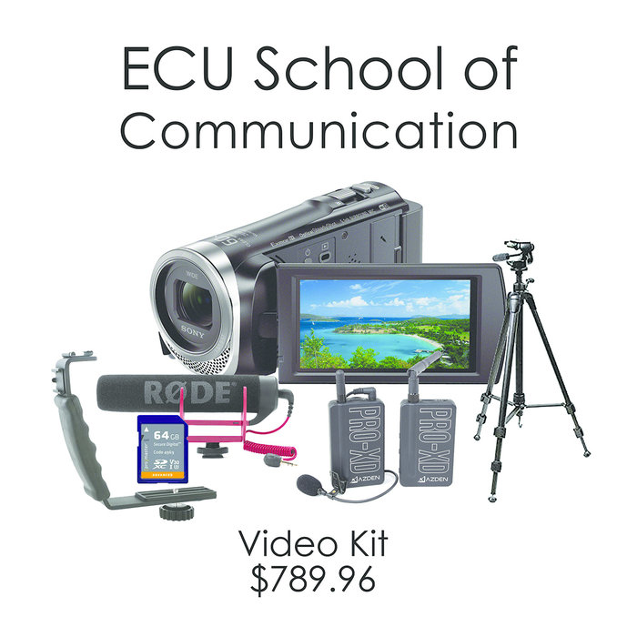 ECU School of Communications Video Kit - Sony Handycam HDR-CX455