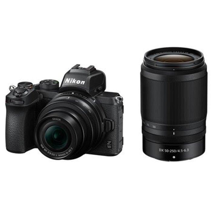 Nikon Z50 Body w/16-50mm f/3.5-6.3 VR & 50-250mm f/4.5-6.3 VR