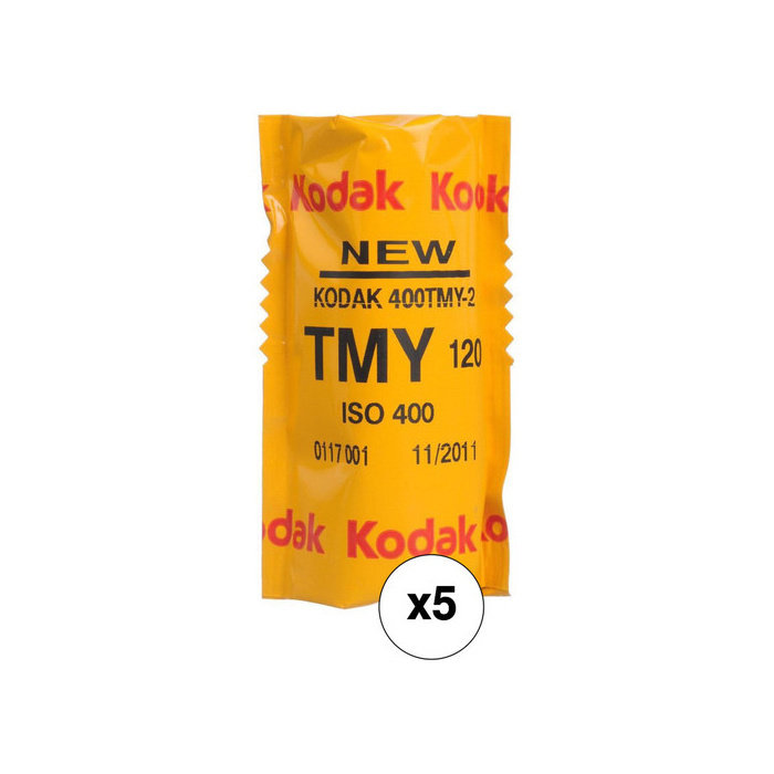 Kodak Professional T-Max 400 Black and White Negative Film (120 Roll Film, 5-Pack)