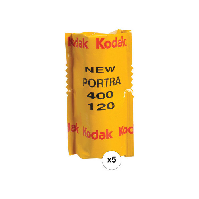 Kodak Professional Portra 400 Color Negative Film (120 Roll Film, 5-Pack)