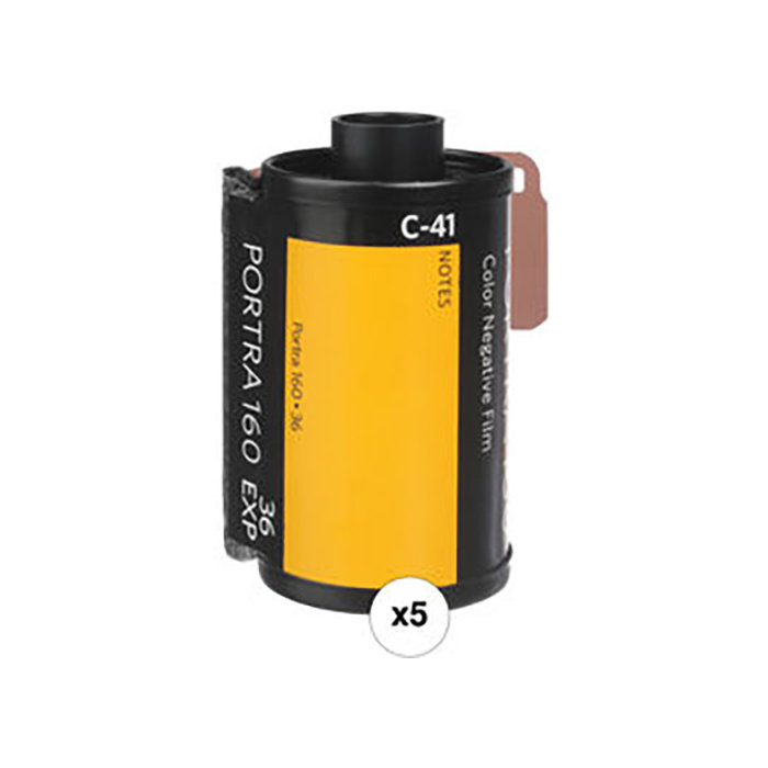 Kodak Professional Portra 160 Color Negative Film (35mm Roll Film, 36 Exposures, 5-Pack)