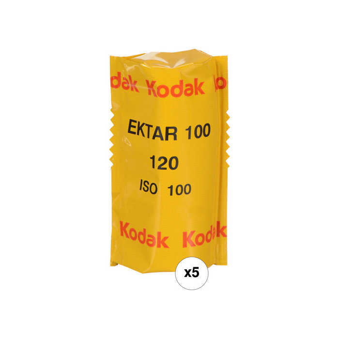 Kodak Professional Ektar 100 Color Negative Film (120 Roll Film, 5-Pack)